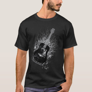 Truman Holland Guitar Tree Diag Mens Black T-Shirt