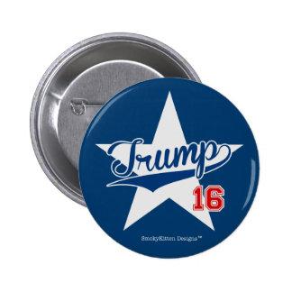 Trump 16 Baseball Script Star (Donald Trump 2016) 2 Inch Round Button