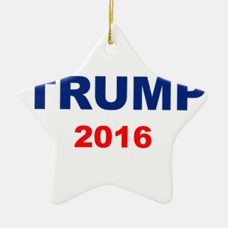 Trump 2016 ceramic star ornament