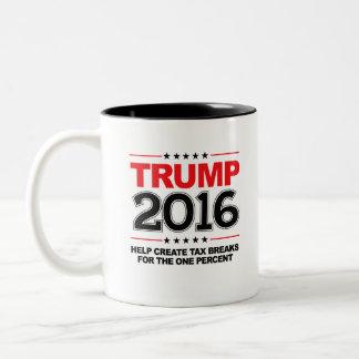 TRUMP 2016 - Create tax breaks for the one percent Two-Tone Coffee Mug