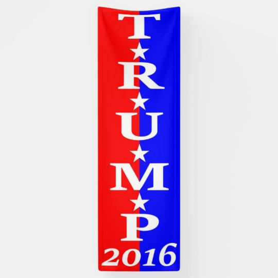 TRUMP 2016 - Red, White & Blue Banner