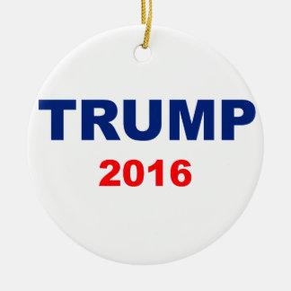 Trump 2016 round ceramic ornament