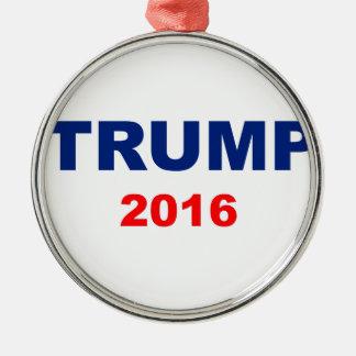 Trump 2016 Silver-Colored round ornament