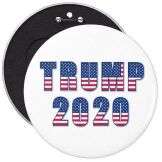 Trump 2020 6 inch round button