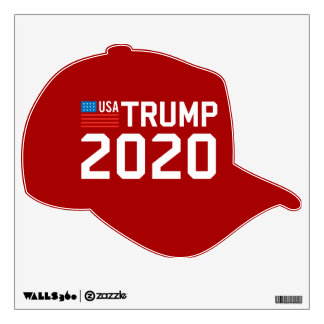 Trump 2020 for president USA flag CHOOSE UR COLOR Wall Decal