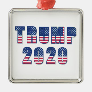Trump 2020 metal ornament