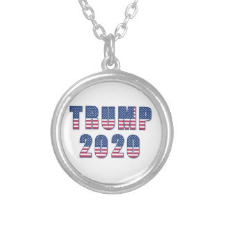 Trump 2020 silver plated necklace