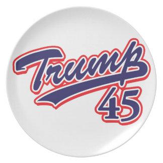Trump 45! plate