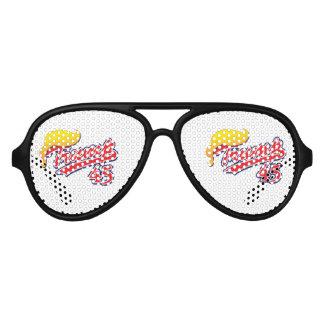 Trump-45-with-Hair Aviator Sunglasses