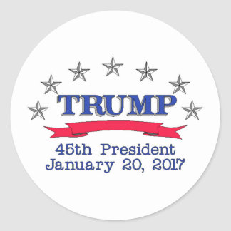 Trump 45th President Classic Round Sticker