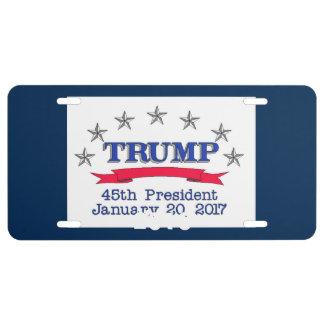 Trump 45th President License Plate