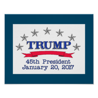 Trump 45th President Poster