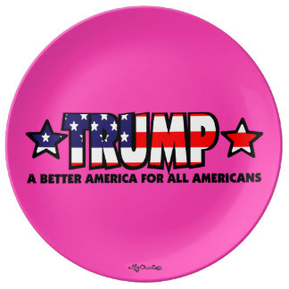 Trump! A Better America for All! PINK PLATE Porcelain Plate