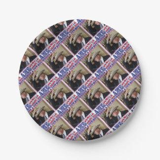 TRUMP-AMERICA-COWBOY PAPER PLATE