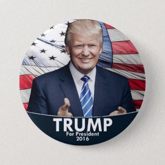 Trump - American Flag 3 Inch Round Button