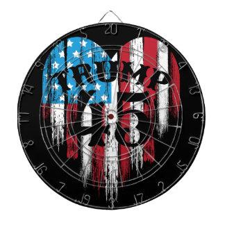 Trump American Flag Heart Dartboard