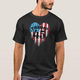 Trump American Flag Heart T-Shirt