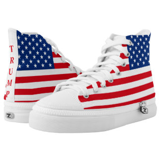 Trump American Flag Patriotic High Tops