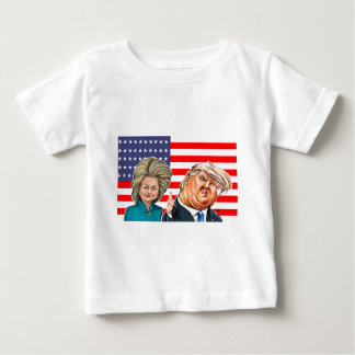 Trump and Hillary Caricature Baby T-Shirt