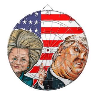 Trump and Hillary Caricature Dartboard