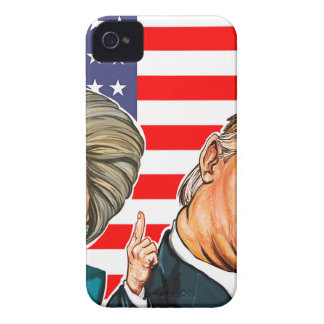Trump and Hillary Caricature iPhone 4 Case-Mate Cases