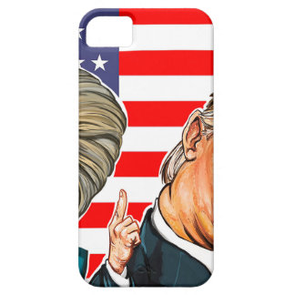 Trump and Hillary Caricature iPhone 5 Cover