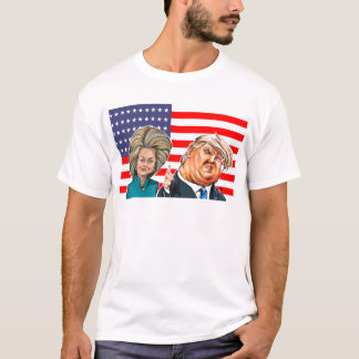 Trump and Hillary Caricature T-Shirt