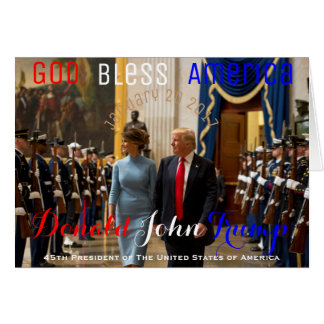 Trump and Melania Joint Armed Forces Honour Guard Card