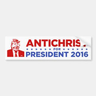 TRUMP ANTICHRIST for PRESIDENT 2016 Bumper Sticker