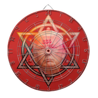 Trump as Anti-Christ on Pentacle Personalized Dartboard
