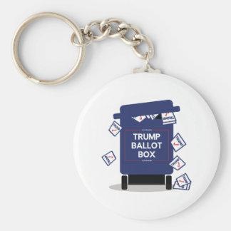 Trump Ballot Box Basic Round Button Keychain
