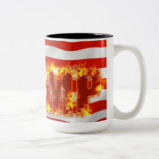Trump, Black, 15 oz Two-Tone, Mug, Two-Tone Coffee Mug
