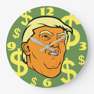Trump Bling Bling Face Clock