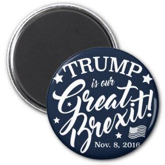 Trump Brexit 2 Inch Round Magnet