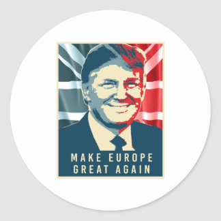 Trump Brexit - Make Europe Great Again - -  Round Sticker