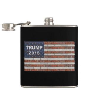 Trump Brick Wall Flag Flasks