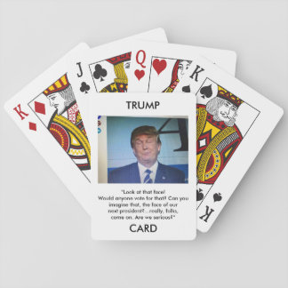 Trump Cards Donald Trump image/quote playing cards