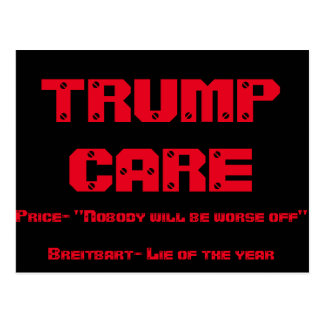 trump care post card