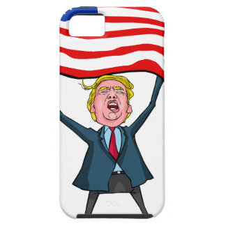 Trump Carrying US Flag with MAGA Text Case For The iPhone 5