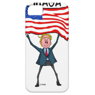 Trump Carrying US Flag with MAGA Text iPhone 5 Case