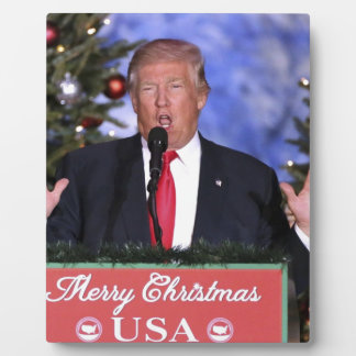 Trump Christmas Plaque