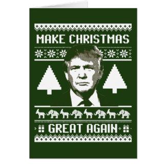 Trump Christmas Sweater - Make Christmas Great Aga Card