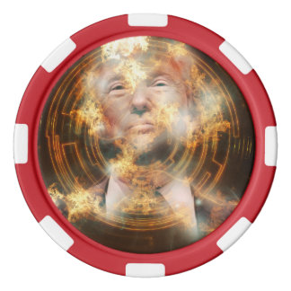 Trump Clay Poker Chips, Red Striped Edge Poker Chips