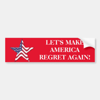 TRUMP CLINTON  BUMPER STICKER