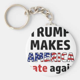 Trump design basic round button keychain
