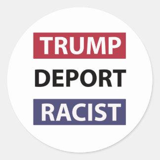 trump design classic round sticker