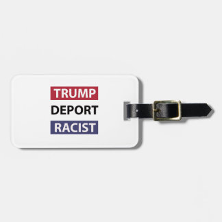 trump design luggage tag
