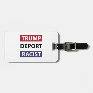trump design luggage tag