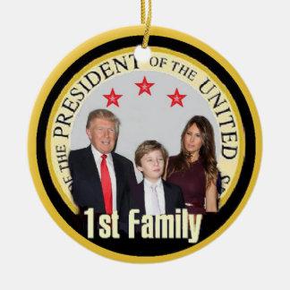 TRUMP First Family Round Ceramic Ornament