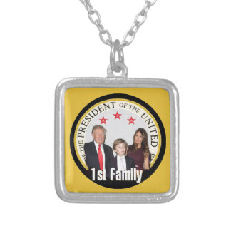 TRUMP First Family Silver Plated Necklace